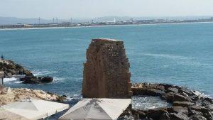 הנמל הפיזני מחומות עכו.