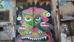 גרפיטי בפלורנטין-שכונת צריפין