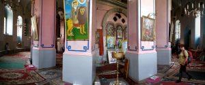 בכנסיה האתיופית ברחוב אתיופיה ירושלים