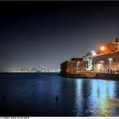 נמל יפו בליל