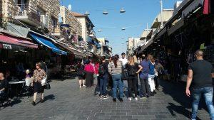 רחוב מחנה יהודה בשכונת מחנה יהודה בשוק מחנה יהודה.
