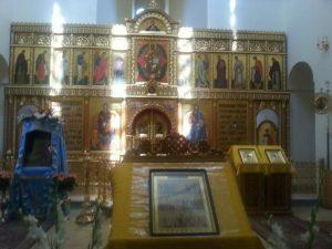 האיקונוסטזיס בכנסיה הפרבוסלבית בעין כרם