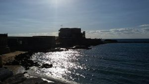 נמל קיסריה לעת ערב