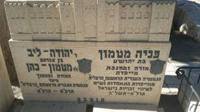 קברם של יהודה ופניה מטמון כהן מייסדי הגימנסיה והגימנסיה הרצליה