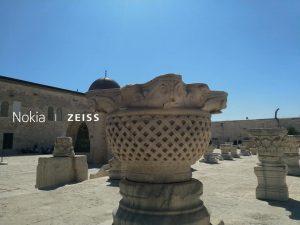 עיצובי בניה מוסלמיים וביזנטיים בהר הבית בירושלים.