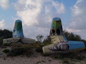 """""""אמנות בחוף ימה של אשדוד"""" צמוד למצודת אשדוד ים."""