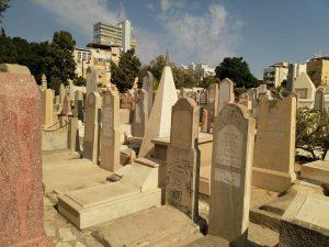 מבט על בית הקברות טרומפלדור התל אביבי